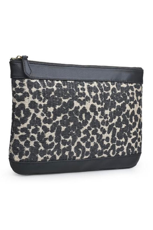 Ibiza Clutch - Cream Leopard