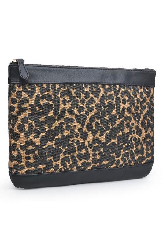 Ibiza Clutch - Brown Leopard