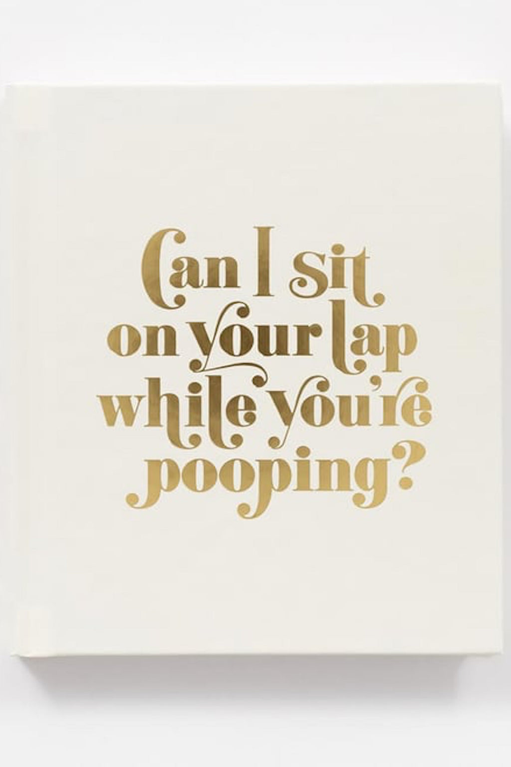 Can I Sit on your Lap While your Pooping?