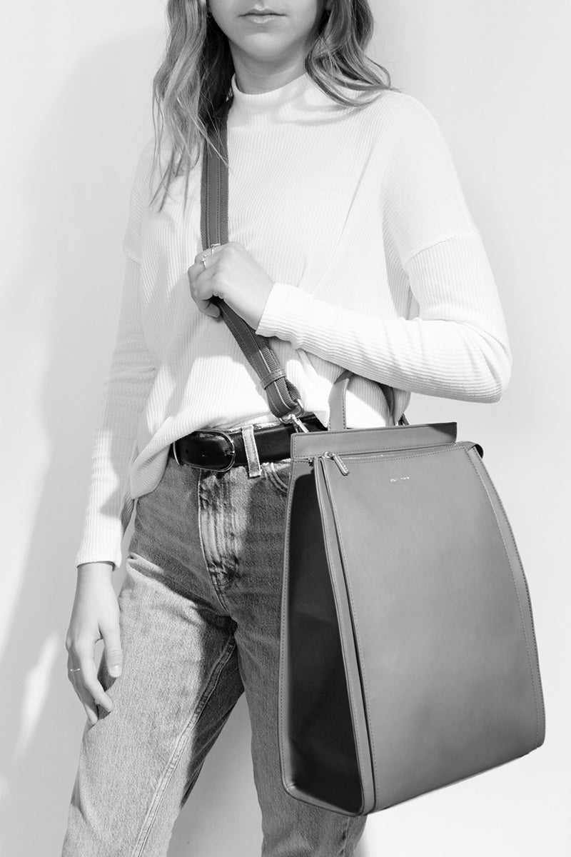 Carrie Convertible Backpack - Grey