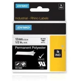 Dymo IND Permanent Polyester labels 12 & 19mm
