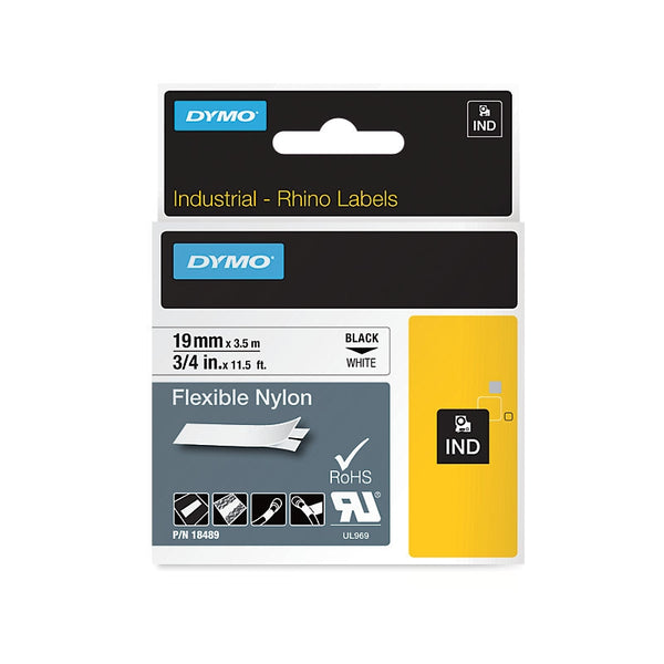 Dymo IND Flexi Nylon labels 12 & 19mm
