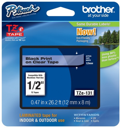 Brother P Touch TZe Laminated Labels 12mm