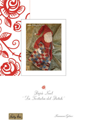Art.701 Shabby Home -  Papà Noel La Tertulia del Patch, tutorial and patterns in SPANISH LANGUAGE