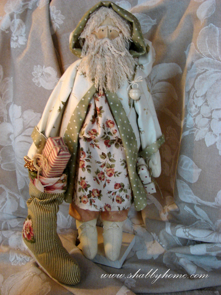 Art.502 Shabby Home - Babbo Natale di Homespun,  Tutorial