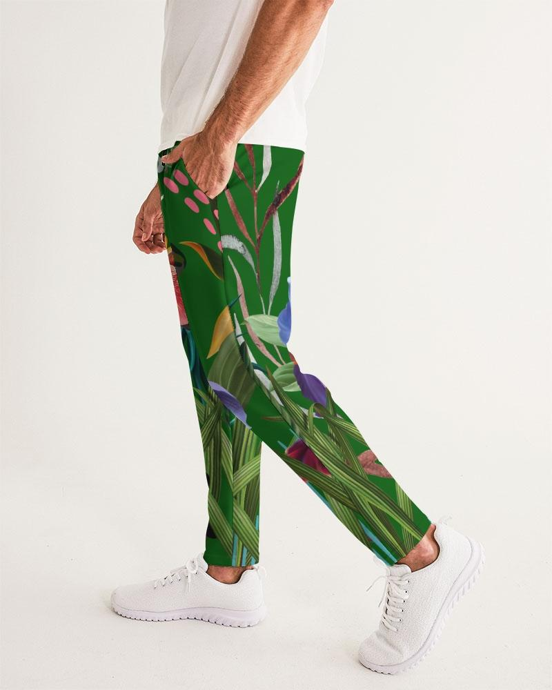 Green Floral Joggers