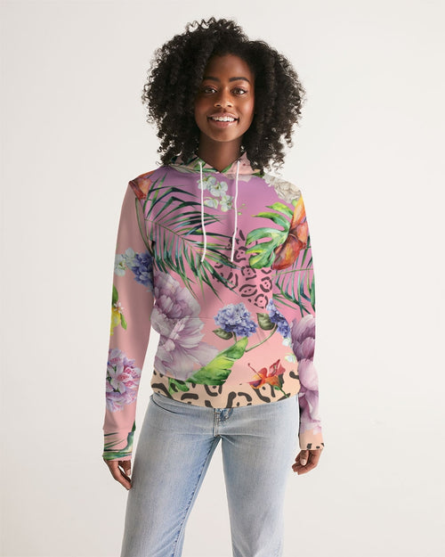 Ombre Floral Women's Hoodie