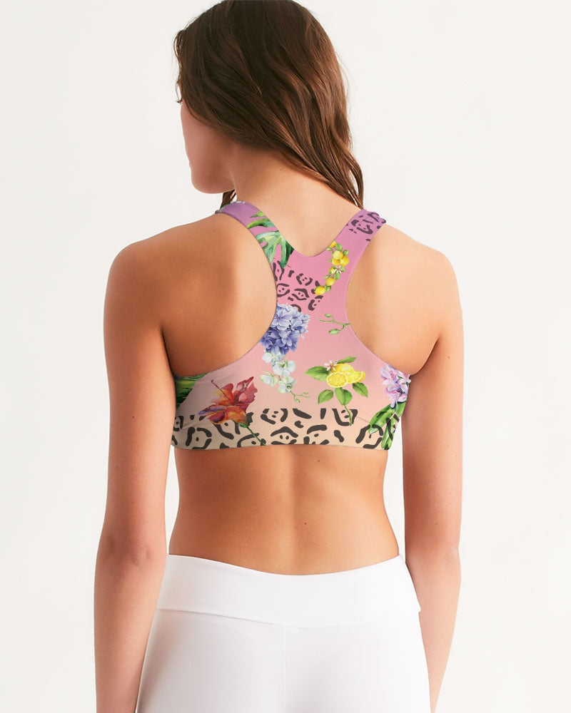 Ombré Floral Women's Seamless Sports Bra