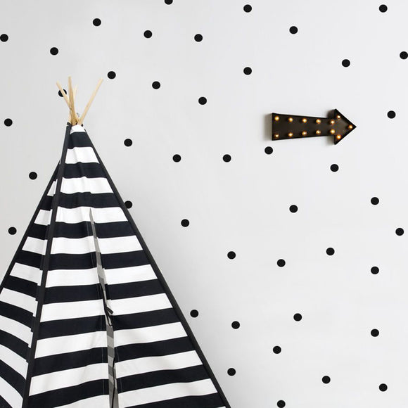 WALLSTICKER - TRESXICS DOTS (BLACK)