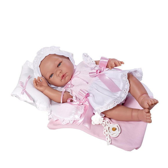 DUKKE - ASI MARIA PINK DRESS & BLANKET