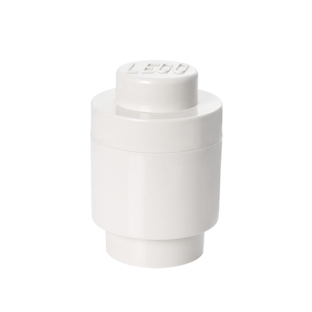 LEGO - STORAGE BRICK 1 ROUND (WHITE)