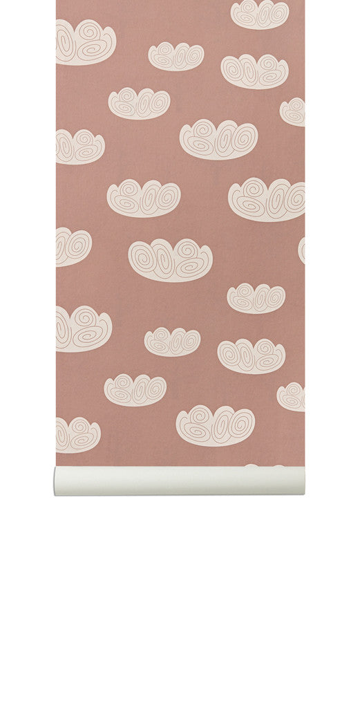 TAPET - FERM LIVING CLOUD (ROSE)