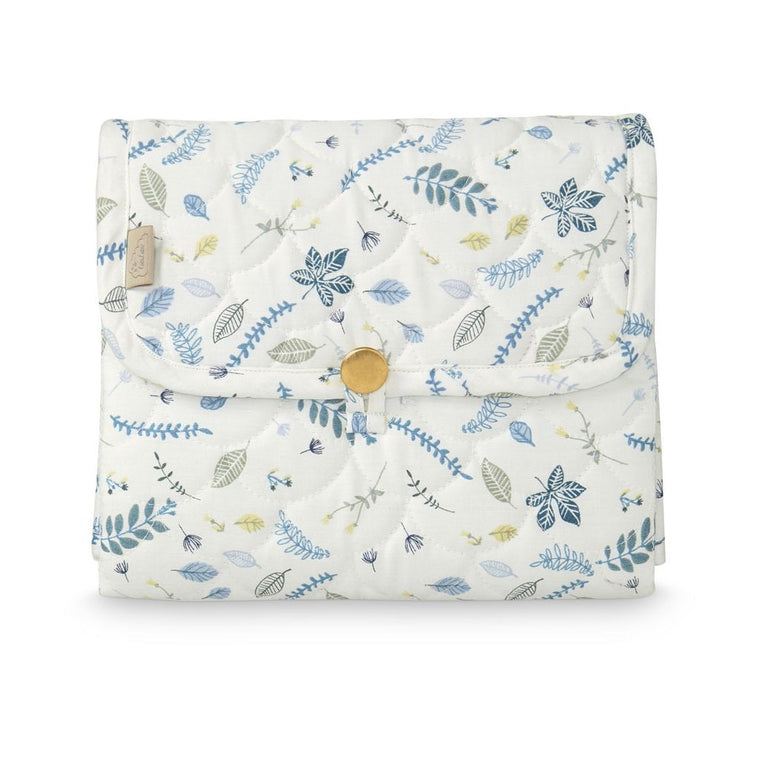 STELLEMATTE - CAM CAM QUILTED (PRESSED LEAVES/BLUE)