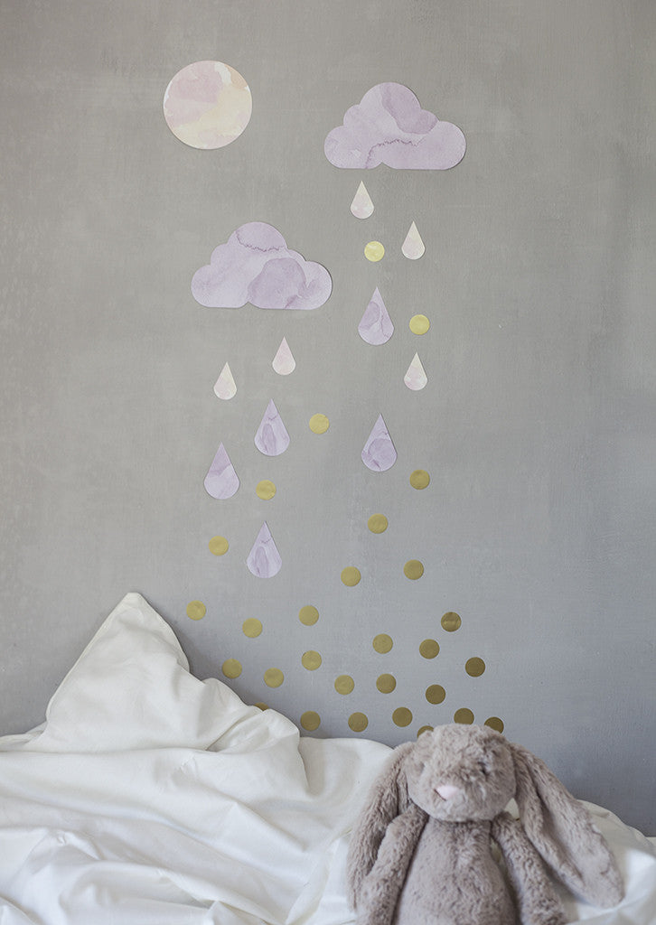 WALLSTICKER - CHISPUM CLOUDS (PINK)
