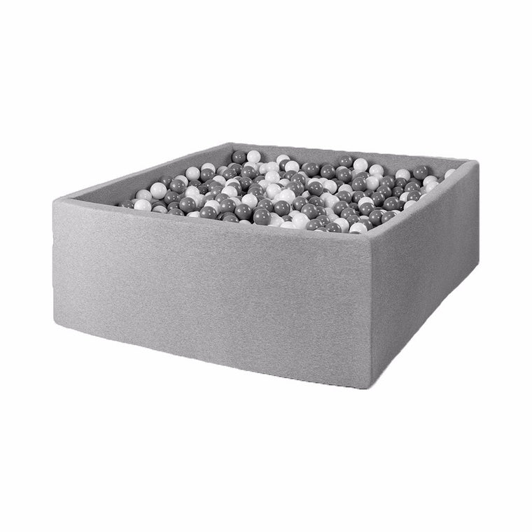 BALLBASSENG - SQUARE 130X130X40 (LIGHT GREY)