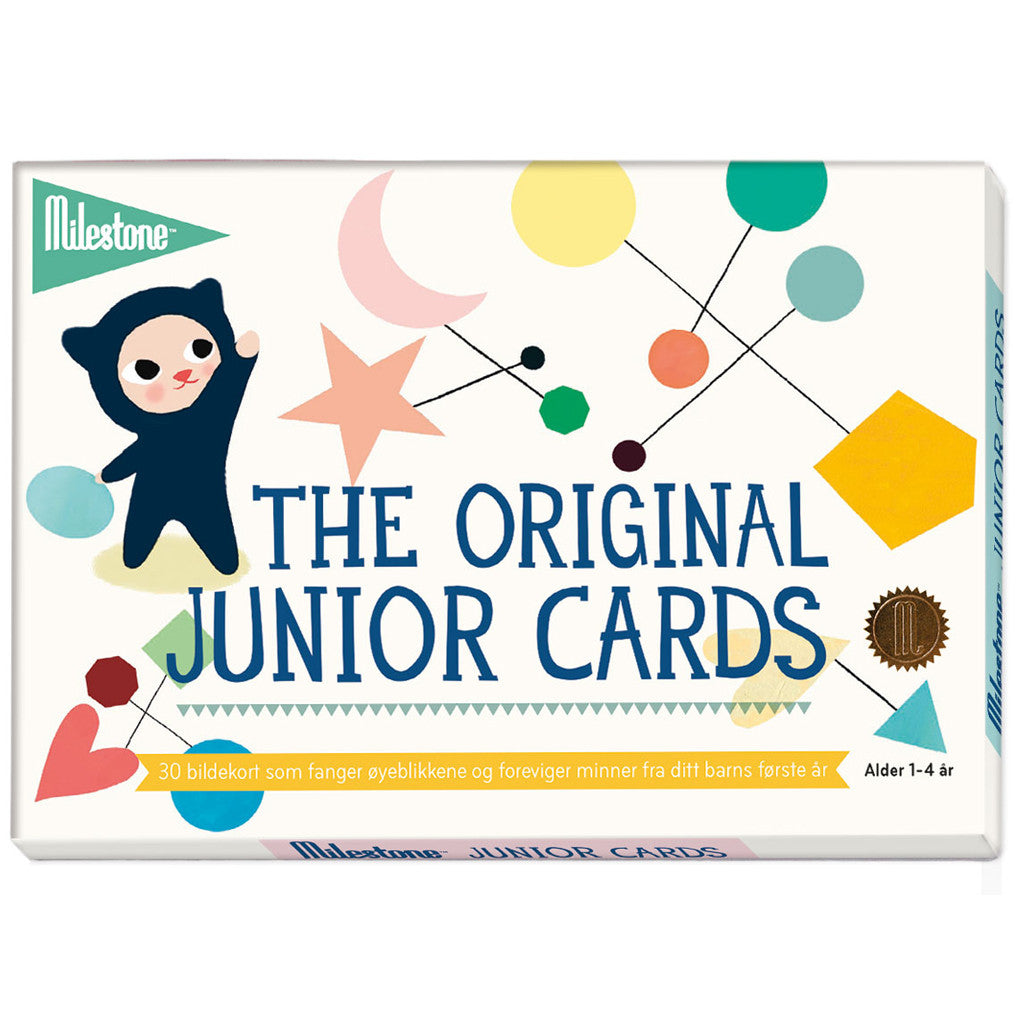 JUNIORKORT I ESKE - MILESTONE CARDS