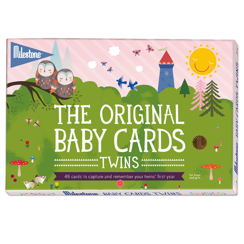 BABY TWINS - MILESTONE CARDS (ENGLISH)