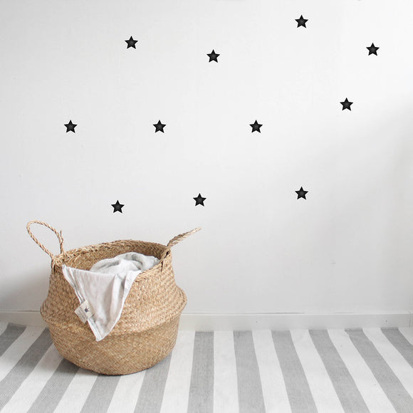 WALLSTICKER - STICKSTAY STARS SMALL (NEARLY BLACK)