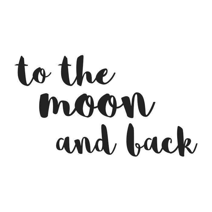 WALLSTICKER - STICKSTAY TEXT: TO THE MOON