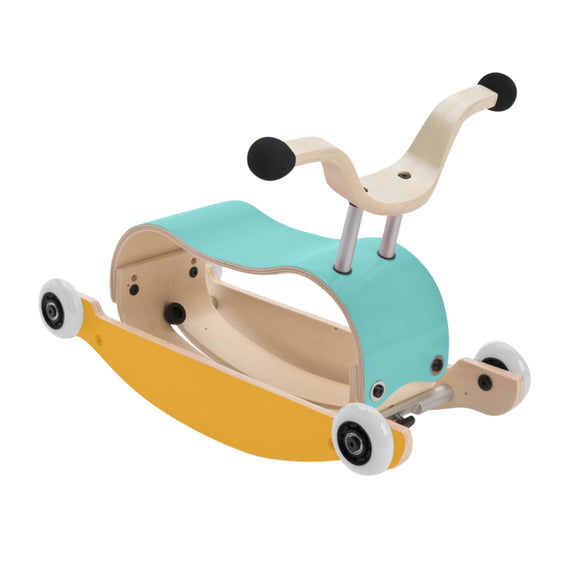 TRELEKE - 3 I 1 WISHBONE MINI-FLIP (AQUA/YELLOW/WHITE)