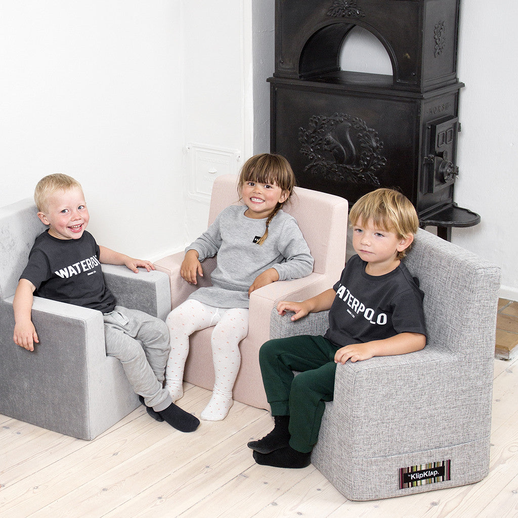 STOL - KK KIDS CHAIR VELVET XL (ANTHRACITE GRÅ/GRÅ)