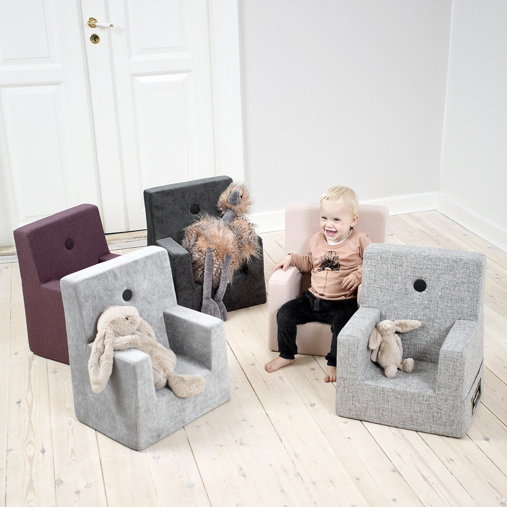 STOL - KK KIDS CHAIR (MULTIGRÅ/GRÅ)