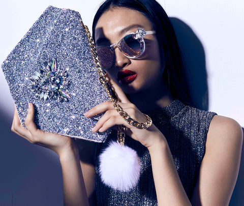 Custom Crystal Diamonte Diamond Bag,