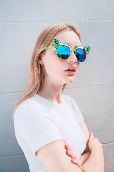 MAUDE Studio Petrol Emerald Sunglasses