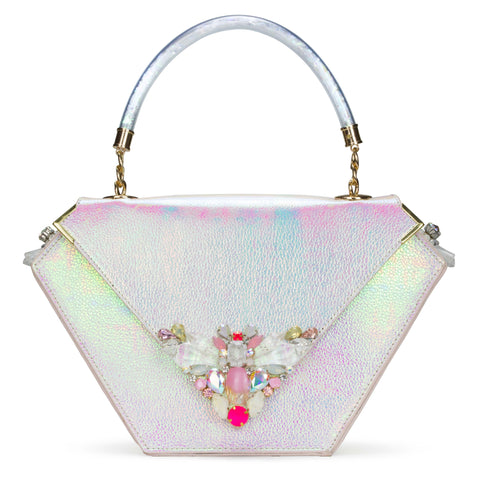 Diamond Bag Embellished Edition Iridescent White