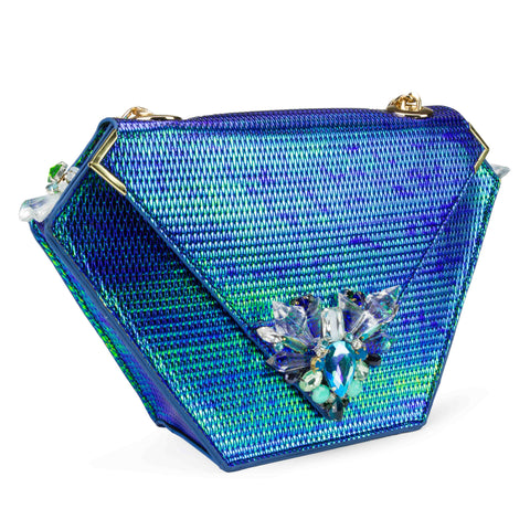 Diamond Bag Embellished Edition, Iridescent Green,