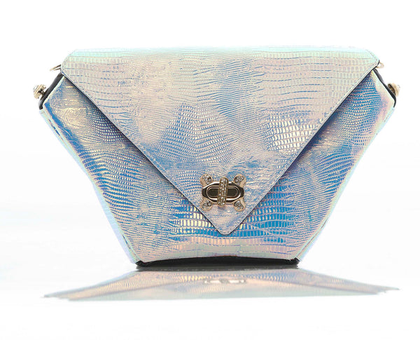 MAUDE Studio Diamond Deluxe Bag Iridescent White