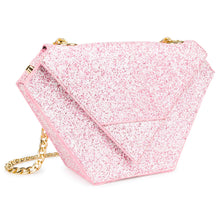 Mottled Pink Glitter Diamond Bag