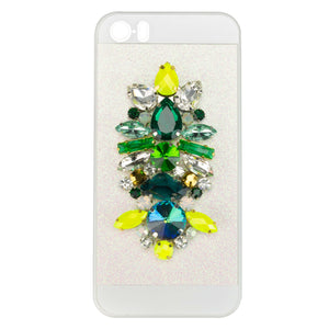 EMBELLISHED IPHONE CASE - EMERALD GREEN