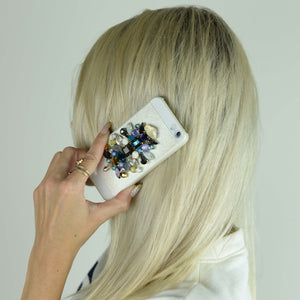 EMBELLISHED IPHONE CASE - BLUE