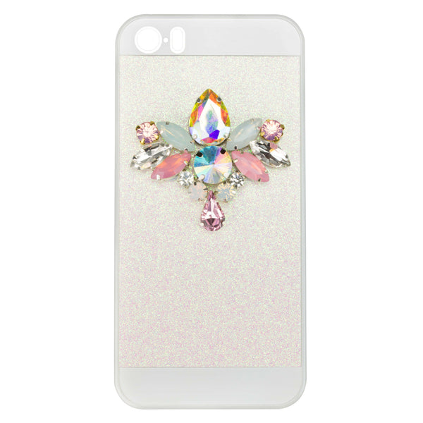 EMBELLISHED IPHONE CASE - IRIDESCENT WHITE