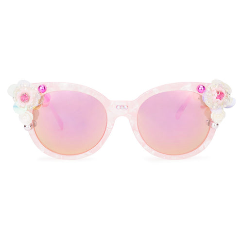 Marbled Pink Iridescent Flower Sunnies