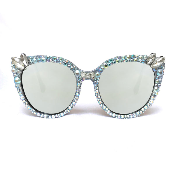 Crystal Deco Iridescent Multi Sunglasses