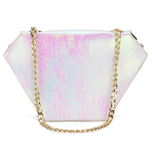 Diamond Bag Iridescent White