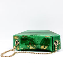 Emerald Jewel Diamond Resin Clutch