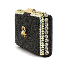 Black Glitter Crab Clutch