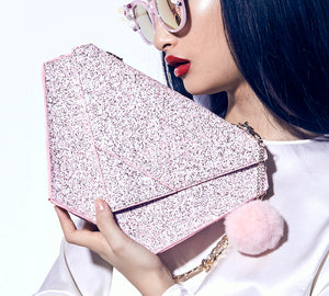 Diamond Bag Pink Glitter