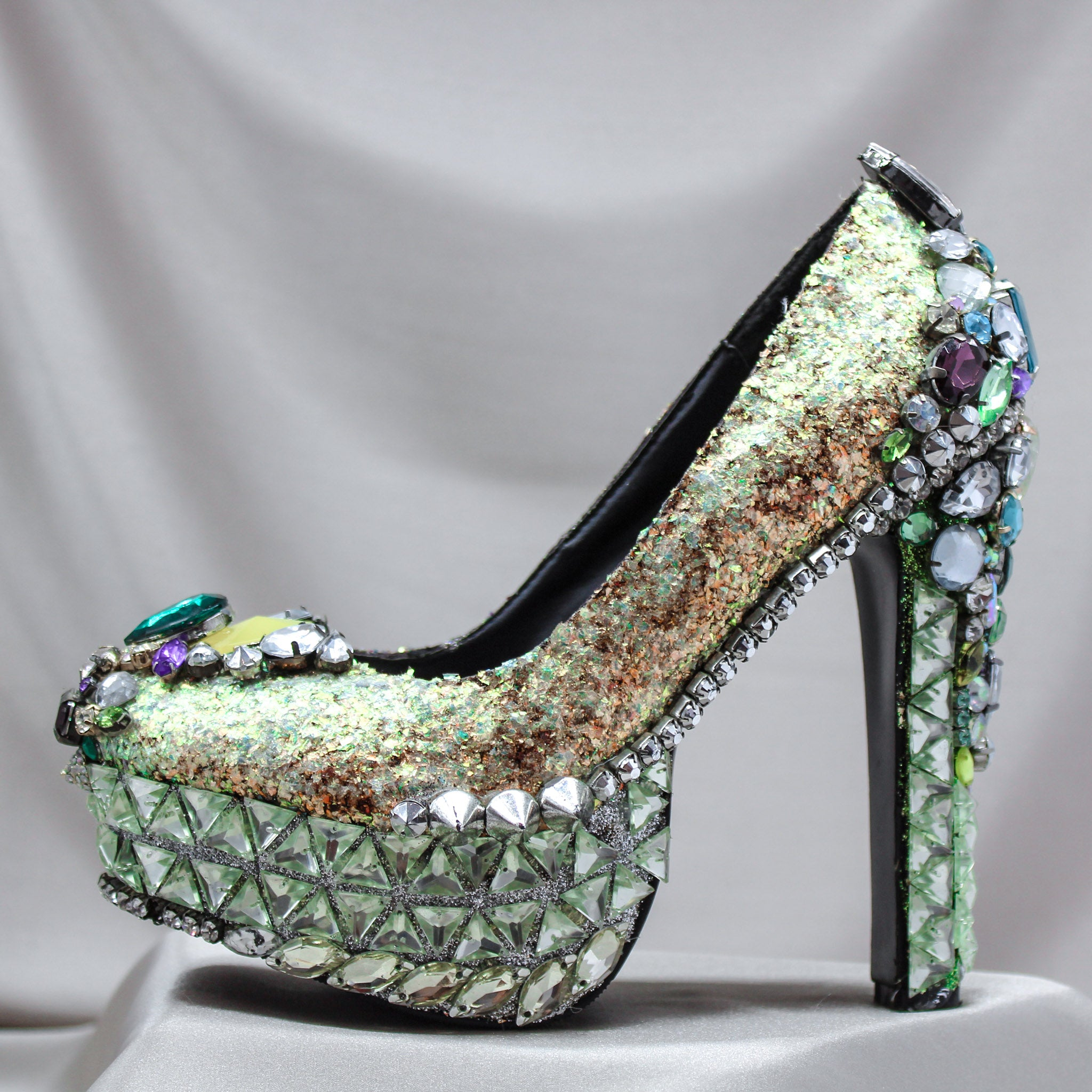 Iridescent Spike Heels