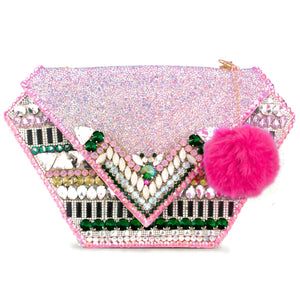 Custom Embellished Diamond Bag - Multi