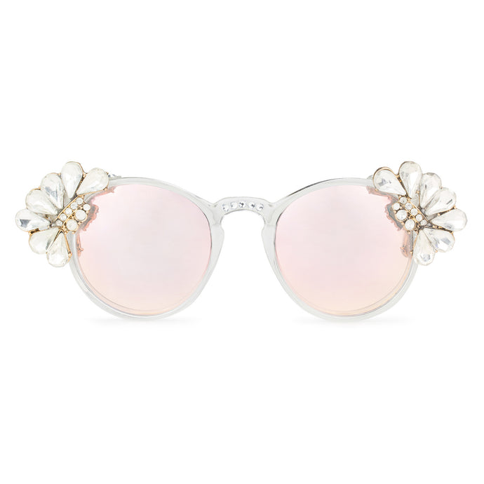 Diamonté Crystal Droplet Sunglasses