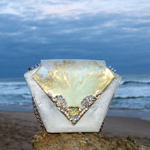 Embellished Pearl Diamond Resin Clutch