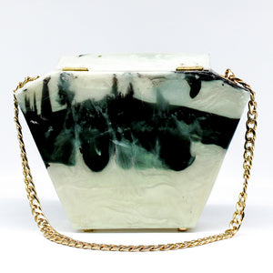 Cookies and Cream Resin Clutch