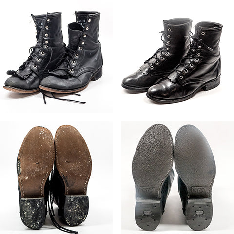 Cobbler Concierge Before and After Shoe Repair