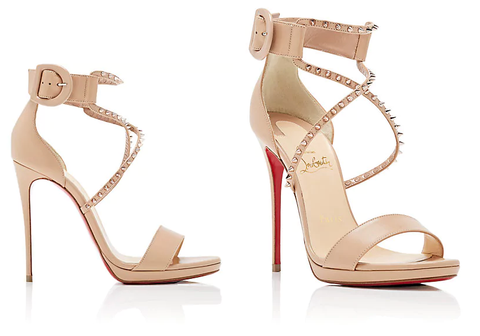 CHRISTIAN LOUBOUTIN Choca Lux Leather Platform Sandals Cobbler Concierge