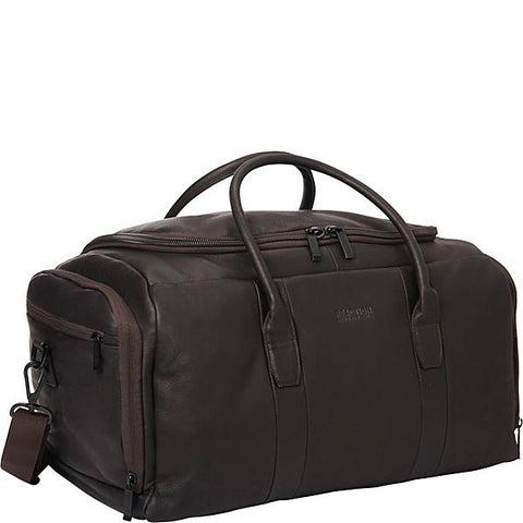 Kenneth Kole Duff Guy Colombian Leather Duffel Bag Cobbler Service