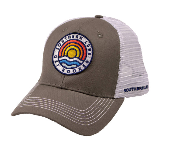 Trucker Hat - Always Sunny Badge - Grey/White